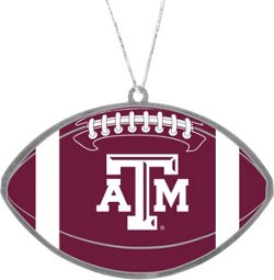 Forever Collectibles Texas A&M University Flat Metal Ball Ornament