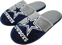 Forever Collectibles Men's Dallas Cowboys Colorblock Slide Slippers