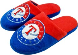 Forever Collectibles Men's Texas Rangers Colorblock Slide Slippers