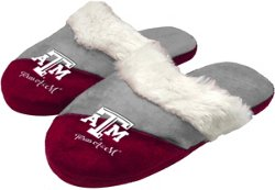 Forever Collectibles Women's Texas A&M University Colorblock Script Big Logo Slippers
