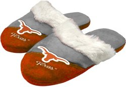 Forever Collectibles Women's University of Texas Colorblock Script Big Logo Slippers