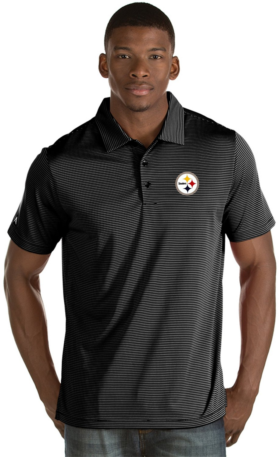 406cc9bcb84 Antigua Men s Pittsburgh Steelers Quest Polo Shirt