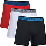 Under Armour Men's Charged Cotton Stretch 6 in Boxerjock Boxer Briefs 3-Pack