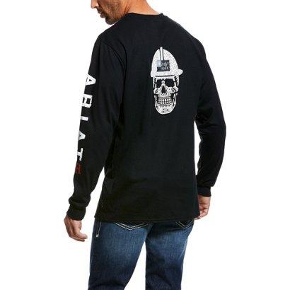 Ariat Men s FR Roughneck Skull Logo Work T-shirt  9e856be30