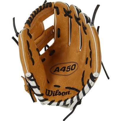 d633439b12e ... Wilson Kids  A450 10.75 in Baseball Utility Glove. Youth Baseball  Gloves. Hover Click to enlarge