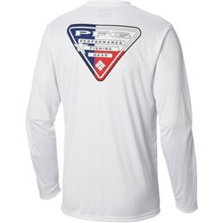 Men's Terminal Tackle PFG Triangle Flag Long Sleeve T-shirt