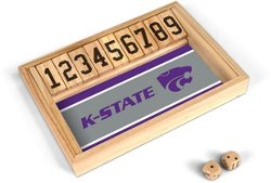 Wild Sports Kansas State University Table Top Shut the Box Game