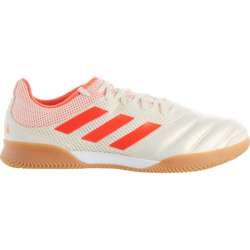 1cdb31a58 Adidas Men s Copa 19.3 Indoor Soccer Shoes (Off White Solar Red