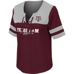 Women's Texas A&M University Naples Lace Up T-shirt