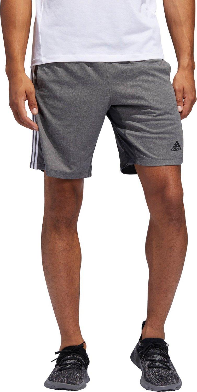 b126104ec916 adidas Men s 4KRFT Sport Heather 3-Stripes Shorts 9 in