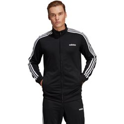 adidas Men's Essential 3-Stripes Tricot Track Jacket