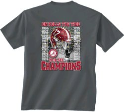 New World Graphics Men's University of Alabama 2018 SEC Championship Recap T-Shirt