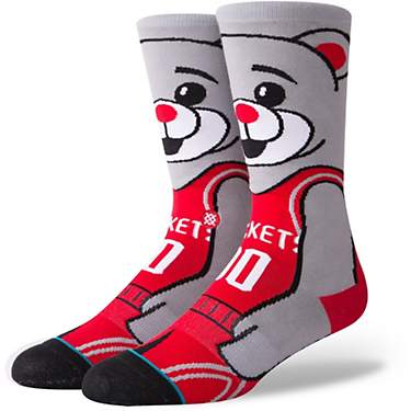 Stance Kids' Houston Rockets Clutch the Bear Crew Socks