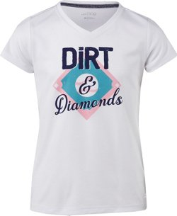 BCG Girls' Turbo Graphic Dirt and Diamonds T-shirt