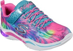 SKECHERS Girls' S Lights Power Petals Flowerspark Shoes