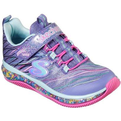 928831695422 SKECHERS Girls  Skech Air Jumpin  Dots Funfetti Shoes