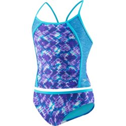 Girls' Rhythmic Tie Dye 2-Piece Tankini Swimsuit