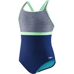 Girls' High Neck Empire 1-Piece Swimsuit