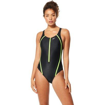44044b0cea98c ... Speedo Women's Quantum Splice Zip 1-Piece Swimsuit. Women's One-Piece  Swimsuits. Hover/Click to enlarge