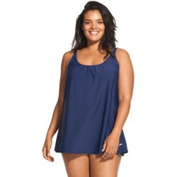 Women's Plus Size A Line Swim Dress