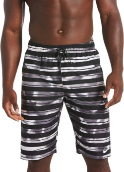 Nike Men's Block Stripe Breaker Volley Swim Trunks