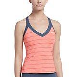7431a1e1fc616 Nike Women s 6 1 Heather Stripe V-neck Tankini Top