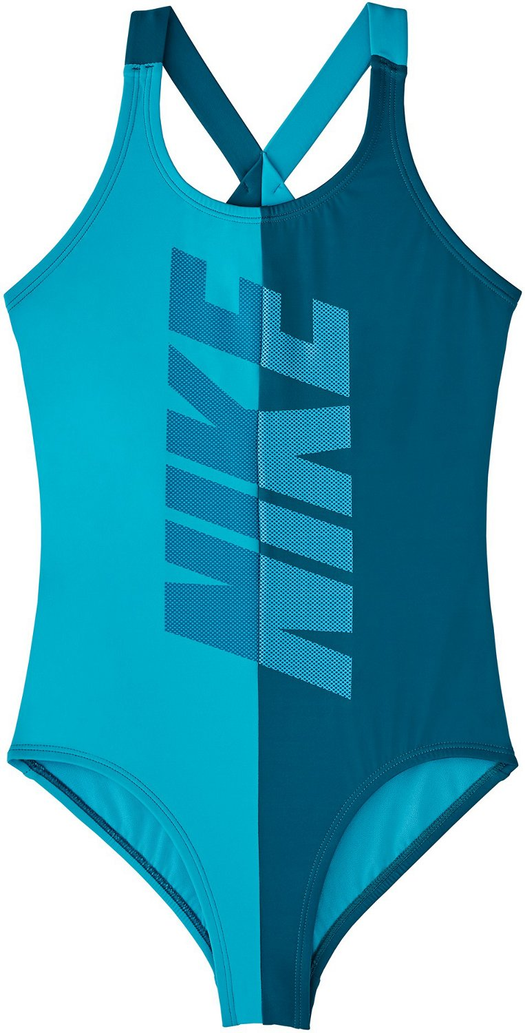 c35ad81527610 Nike Girls' Rift Crossback 1-Piece Swimsuit | Academy
