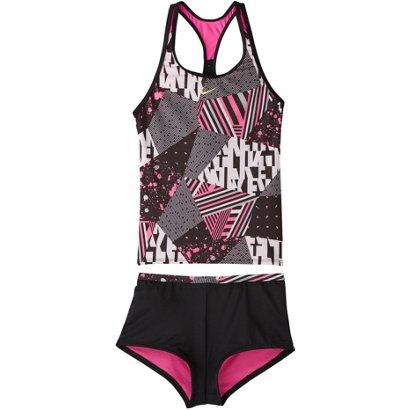 0e98805ffb02 Nike Girls  Mash Up Tankini and Kickshort Swimsuit Set