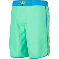 Men's Solid Scalloped Boardshorts