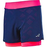 BCG Girls' Athletic Laser Cut 2fer Shorts