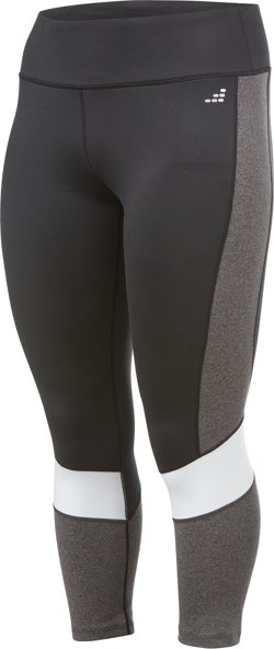 Women's Athletic Spliced Plus Size 7/8 Leggings