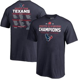 Houston Texans Youth Super Bowl LIII Division Champions Comeback Play Roster T-shirt