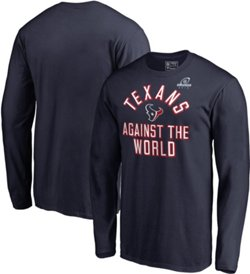 Houston Texans Men's Super Bowl LIII Playoff Participant Against The World Long Sleeve T-shirt