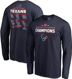 Houston Texans Men's Super Bowl LIII Division Champions Comeback Play Roster Long Sleeve T-shirt