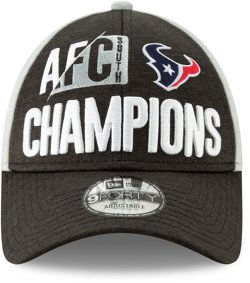 New Era Men's Houston Texans 2018 AFC South Division Champions 9Forty Cap