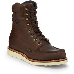 Men's Waterproof Moc Toe Lace-Up Work Boots