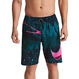 514945a62662f Men's Printed Swoosh Volley Board Shorts