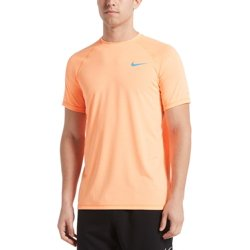 Men's Heather Short Sleeve Hydroguard Shirt