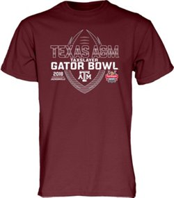 Blue 84 Men's Texas A&M University TaxSlayer Gator Bowl 2018 Spiral Stripe T-shirt