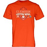 Blue 84 Men's Clemson University Cotton Bowl 2018 Spiral Stripe T-shirt