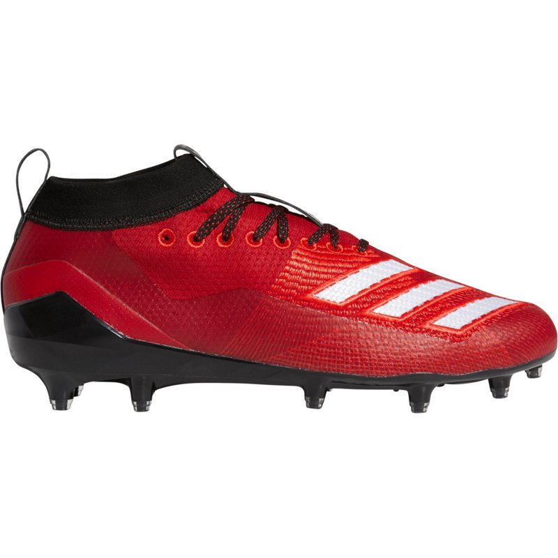 639761baf adidas Men s Adizero 8.0 Football Cleats Power Red Cloud White Black