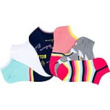 BCG Kids' Believe in Rainbows No-Show Socks 6 Pack