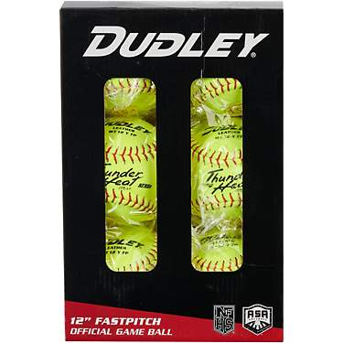 Dudley Thunder Heat 12 in ASA/NFHS Fast-Pitch Softballs 6-Pack