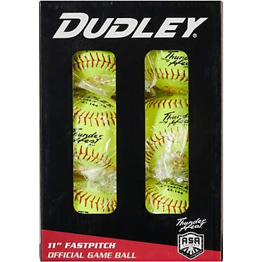Dudley Thunder Heat 11 in ASA Fast-Pitch Softballs 6-Pack