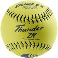 Dudley Thunder ZN 12 in USSSA Slow-Pitch Softballs 6-Pack
