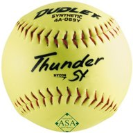 Dudley Thunder SY 12 in ASA Slow-Pitch Softballs 6-Pack