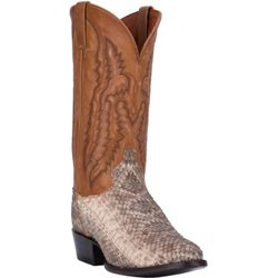 Men's Venom Rattlesnake Leather Western Boots
