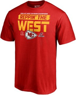 Kansas City Chiefs Men's 2018 AFC West Division Champions Fair Catch T-shirt