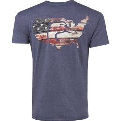 Men's Barn Board USA Flag T-shirt