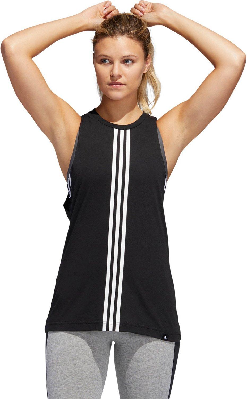 8455062f503 adidas Women's 3-Stripe Muscle Tank Top | Academy